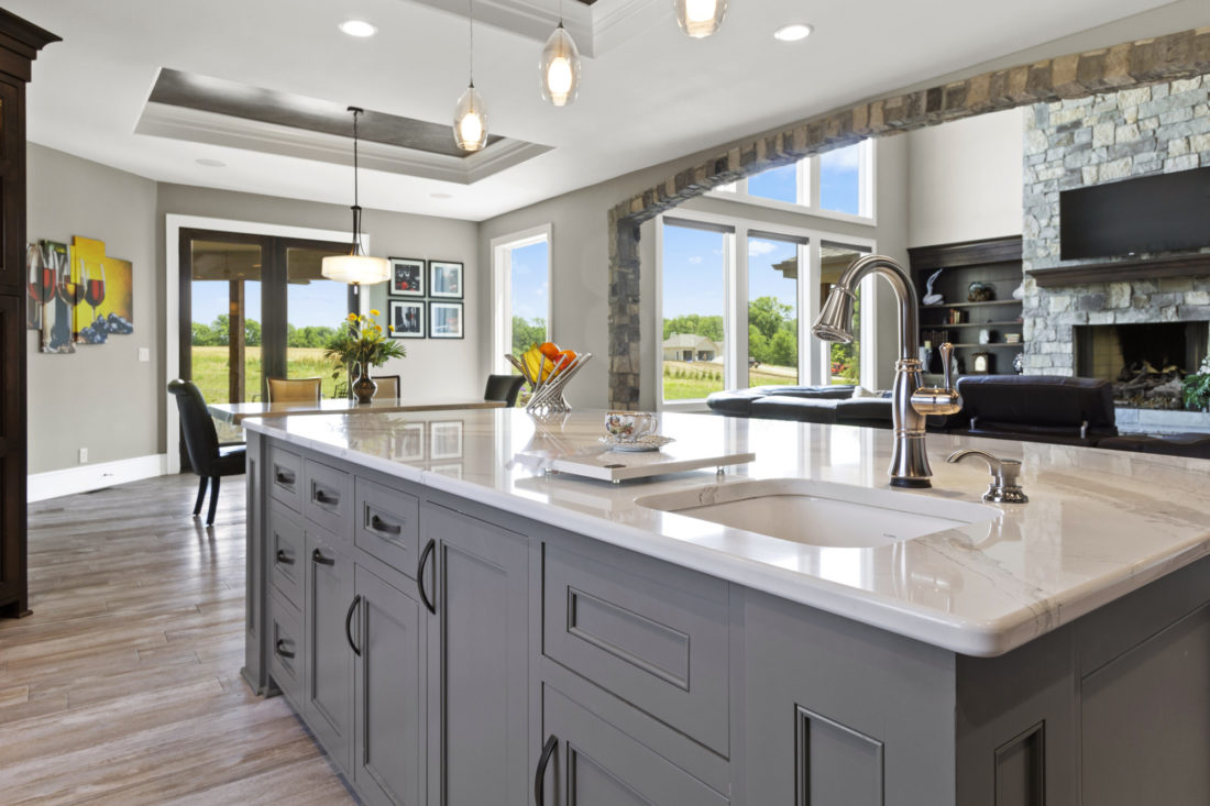 The Top 5 Materials for Modern Kitchen Countertops - Lives On on Modern Kitchen Counter  id=54738